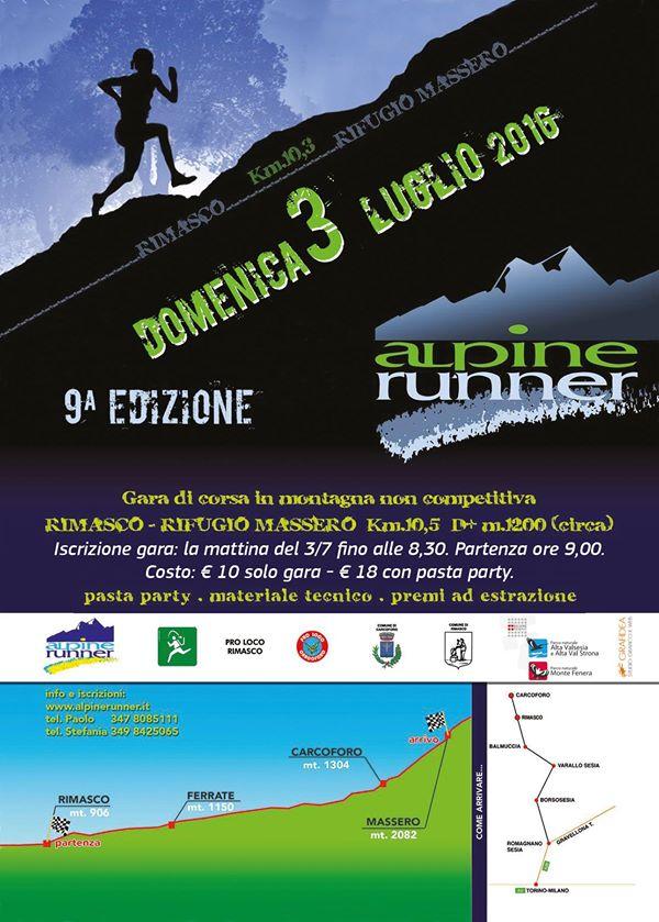 Nona edizione massero alpine runner